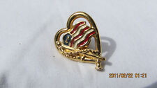 AVON STARS & STRIPES ENAMEL PAINTED WAVING FLAG COLLECTIBLE TACK PIN