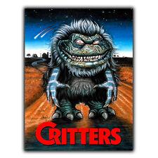 Critters 1988 película Letrero de Metal Placa de pared película de terror anuncio cartel impresión