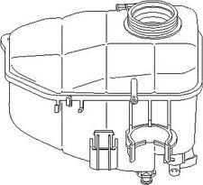 Mercedes Benz Clk A209 2003-2010 Expansion Tank Engine Coolant Replacement Part