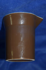 Brown Pitcher/Creamer/etc. - Made in the USA - Brown on outside and white on ins