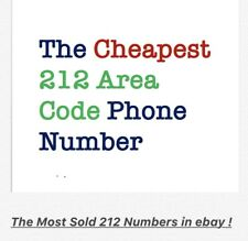 212 Area Code Phone Number in Simcard (Refill required )