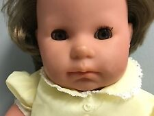 "Zapf Creations Balica Girl Doll 19"" Brown Hair Eyes Sleeping Eyes Nice 4 Reborn"