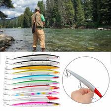 10Pcs Tackle Fishing Lures Baits Fishing Hook Minnow Crank Lure 18.5CM/24.5G