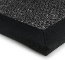 Super Jute Black Rugs Canvas Bordered Rug In Natural Fibre Sisal Look 165x230cm