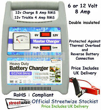 Streetwize Automatic Battery Charger 6/12v 8 Amp Plastic Case SWBCG8