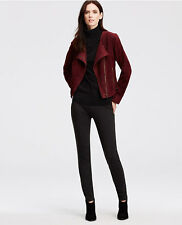 Ann Taylor Suede Cropped Jacket burgundy, sz S, NWT, ret. 348$
