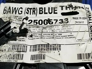General Cable #6awg THHN/THWN-2 Stranded Copper Building Wire Blue /50ft