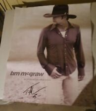 Tim Mcgraw A Place In The Sun Poster Autographed 28x23