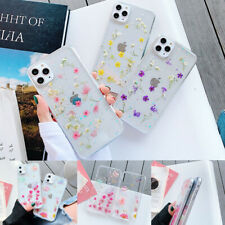 Glitter Clear Planet Real Flower Phone Case Cover For iPhone11ProMax 7 8Plus XR