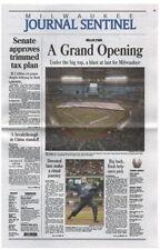 Milwaukee Journal-Sentinel Mini-newspapers Milwaukee Brewers