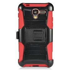 KYOCERA Hydro View / Reach / Shore Rugged Hybrid Belt Clip Holster Case Cover