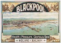 Midland Railway Blackpool Travel | Vintage Poster | A1, A2, A3