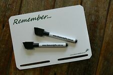 A5 Slotted Magnetic Whiteboard Fridge Family Office Memo Message Reminder +2Pens