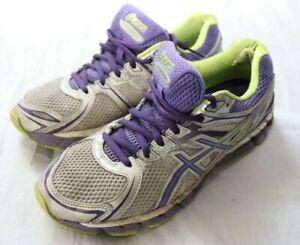 ASICS Gel-Pursue Women's Running Sport Shoes Size 8 Grey/Green/Purple Fluid Ride