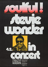 "Stevie Wonder German 16"" x 12"" Photo Repro Concert Poster"