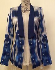 Women's Charlie Brown Blue Printed Jacket  size 6 fit up to size 8 BNWT RRP $299