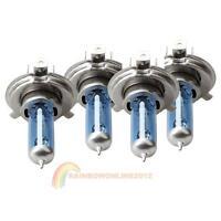 4pcs 55/60W H4 12V Car Super white Xenon Halogen Light Bulb Headlight Lamp Blue