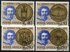 Città del Vaticano 1980 SG#747-750 Gian Lorenzo Bernini CTO utilizzati Set #D59171