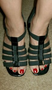 Details about  /Jaclyn Smith Women/'s Black Casual Dress Wedge Shoes Alura