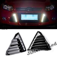 2PCS LED Daytime Running  Light DRL  Driving Fog Lamp For Ford Focus 2011-2013