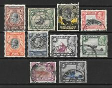 1935 King George V SG110 to SG120 3s. Blue & Black  Set of 10 Stamps Used  KUT