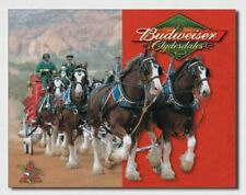 Budweiser Clydesdales Metal Tin Sign Bud Beer Retro Style Decor #1281