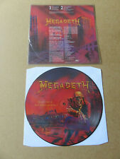 MEGADETH Peace Sells...But Who's Buying ? 1986 UK PICTURE DISC LP ESTPD2022