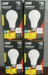 Feit 17.5w 100w Replacement Dimmable LED 3000K Bright White 4-Pack ~NEW~