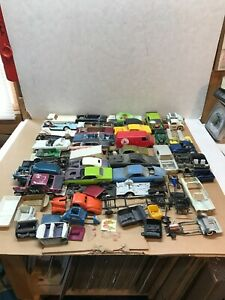 LARGE JUNKYARD LOT OF 1/24-25 SCALE USED BODY'S & PARTS AMT, MONOGRAM,REVELL