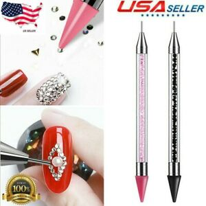 YouCY Point Drill Pen Double-Ended Rhinestone Picker Wax Pencil Manicure Tools Accessories,Orange