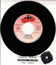 "MOODY BLUES  Gemini Dream & The Voice 7"" 45 record + juke box title strip NEW"