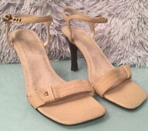 Women's Nude Sandals Strappy Stiletto By Atmosphere BNWT Uk 4 Beige
