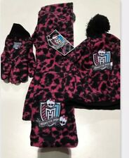 ea255745a107 Brand New Girls Monster High A scarf Glove Set Cold Hiver 6 7 8 9 10