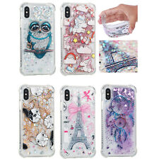 Cute Quicksand Glitter Liquid Dynamic Flowing Case Cover Anti Fall with Pattern
