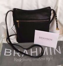 Brahmin NWT Avenue Adjustable Shoulder/Crossbody Black Nepal Leather