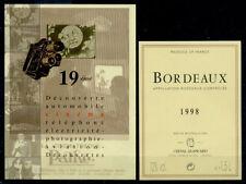 ETIQUETTE DE BORDEAUX NEUVE THEME CINEMA 2 1998 - LUXE PORT OFFERT