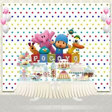 7x5ft Cartoon Pocoyo Birthday Baby Shower Photography Studio Backdrop Background