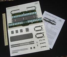 "1980s Vintage BVB Modellbogen Swiss Basel Tram Streetcar ""Dante Schuggi"""