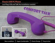 USB VoIP Skype Viber GVMATE ICQ Phone Telephone Handset Internet PC Computer pur