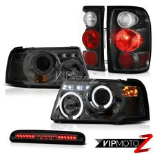Angel Eye Projector Headlights Tail Lights Brake 3rd Smoke LED 01-11 Ford Ranger