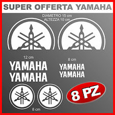 8 adesivi logo yamaha diapason tagliato stickers per moto a0608