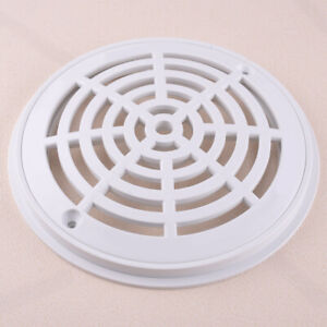 8 Inch Universal Replacement Round Swimming Pool Main Drain Cover White New