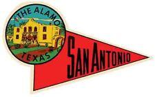 The Alamo  San Antonio  TX  Texas   Vintage Looking  Travel Decal Luggage Label