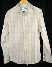 The Shirt by Joe's Jeans Button Front Shirt Red Pink Plaid Size Small