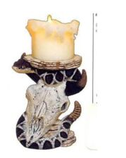 Snake on Cow Skull Candle Holder Ready to Paint Ceramic Bisque