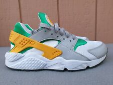 Nike Air Huarache Lucid Green Gold Gray Running Shoes Sz 9 used 318429-302