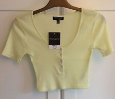 Topshop Cropped Cotton Other Women's Tops