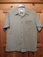 Blue & Yellow Short Sleeved 'Quechua' Check Casual Shirt - Size Large