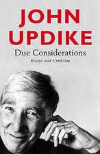 """VERY GOOD"" Updike, John, Due Considerations, Book"