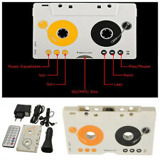 Car Telecontrol Tape Cassette MMC MP3 Player Audio Adapter Earphone Remote Kits
